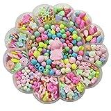 STOBOK 1 conjunto/450 peças conjunto de contas para fazer joias kits de contas de artesanato para meninas pequenas DIY colares pulseiras jogos infantis (cor aleatória)