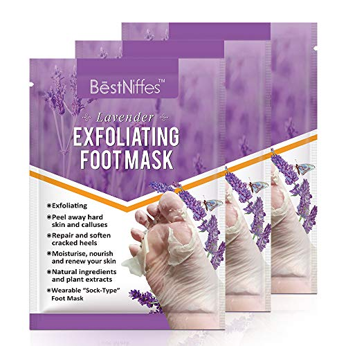 Foot Mask Foot Peel Mask Foot Masks That Remove Dead Skin Exfoliating Callus Peel Booties,Foot Mask Moisturizing Socks. (Lavender)