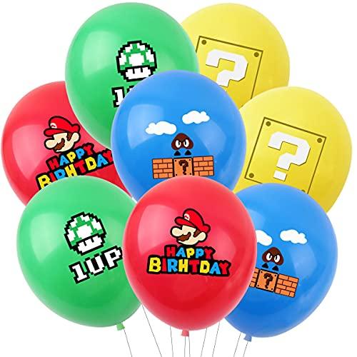 8pcs/lot Mario Theme Party Latex Balloon Super Mario Balloon Cartoon Game Birthday Party Decoration