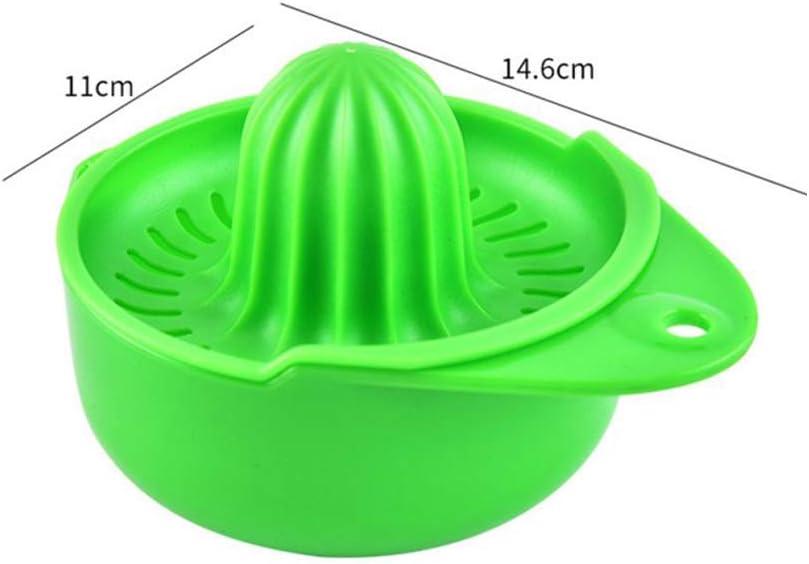 Exprimidor manual de material de seguridad alimentaria, portátil, fácil de usar y limpiar en el hogar, cocina al aire libre, suministros de picnic, limón y naranja. verde Azul