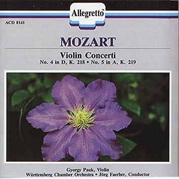 """Mozart: Violin Concertos Nos. 4 & 5 """"Turkish"""""""