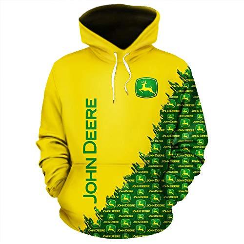 xiaoxian Männer Hoodies Jacke Zum John-Deere 3D Drucken Pullover/Zip Sweatshirt-Fan Unisex Lose Jumper Tops Lose / G1 / M