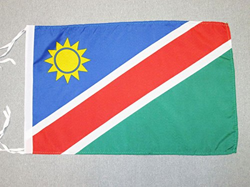 AZ FLAG Flagge Namibia 45x30cm mit Kordel - Republik Namibia Fahne 30 x 45 cm - flaggen Top Qualität