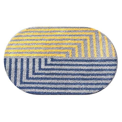 Renhe Felpudo de baño con goma termoplástica antideslizante para la entrada, de terciopelo, para plantas, suciedad, 40 x 60 cm