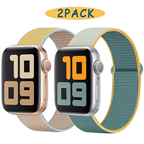 UHKZ Sport Watch Band Compatible with Apple Watch Band 38mm 40mm 42mm 44mm,Nylon Replacemen Wristband for Iwatch Series 5,Series 4,Series 3,Series 2,Series 1