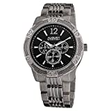 August Steiner Multifunction Men's Watch - 3 Subdials Day, Date and GMT - On Stainless Steel...