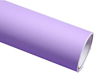 REDODECO Solid Color Matte Textured Vinyl Adhesive Paper Peel Stick Wallpaper Adhesive Cabinet Shelf Liners Decal,15.8inch by 79inch (Purple)