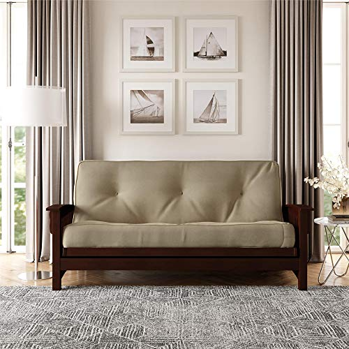DHP 8 Inch Independently Encased Coil Futon Mattress, Tan Microfiber