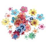 YuKeShop 360 adornos comestibles para tartas de papel, decoración de magdalenas, flores comestibles