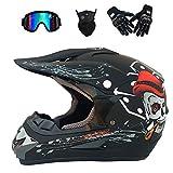 Motocross Helmet,Outdoor Full Face Dirt Bike Helmets ATV Offroad...