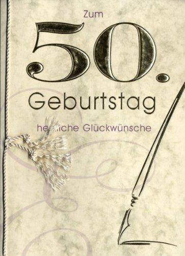 Grußkarte Urkunde Zum 50. Geburtstag herzliche Glückwünsche A5