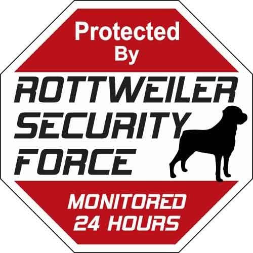 Animal Directly managed store Den Store Rottweiler Security Sign Force