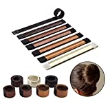 7 Pack Donut Hair Bun Maker Hair Accessory, Easy Fast Snap Roll Bun Tool, Buns Fashion Styling Maker, DIY Hair Styling Tool for Women and Girls (7 Colors)