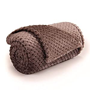 Small Dog Blanket, Ultra Soft and Warm Premium Fleece Fluffy Throw Blankets Bed Covers for Puppy Pets(Small Brown)