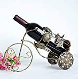 Zpong Eisen Dreirad Modell Metall Weinflaschenregal 40 * 18 * 27 cm, Europäische Kreative Retro Weinregal Ornamente