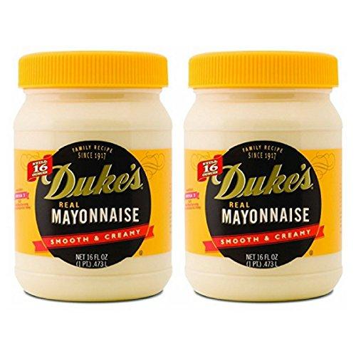 Duke's Real Mayonnaise Smooth & Creamy 2-16 fl oz Jars