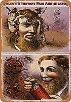 メタルサインウォルコットの即刻の鎮痛剤のレトロな装飾ティンサインバー、カフェ、アート、家の壁の装飾