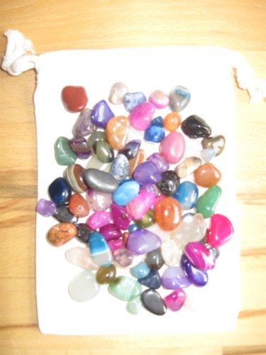 Piedras preciosas piedras semipreciosas 90 unidades en bolsa de tela para juegos...