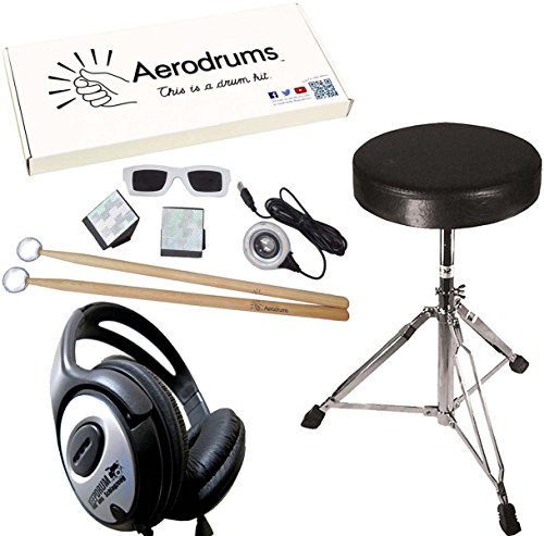 Aero Drums Air de Drum Ming Impacto de S de Drum con PS3 Cam + DRUM taburete + Auriculares Keepdrum