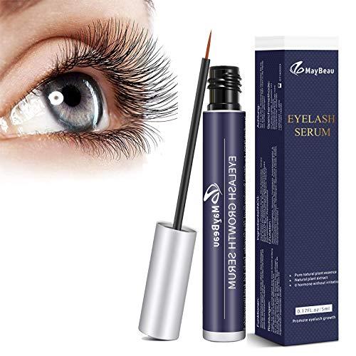 MayBeau Wimpernserum Augenbrauenserum mit Natürlichen Zutaten 5 ML Eyelash Growth Serum für Stärkeres und Schnelles Wimpernwachstum Wimpern Booster für Mehr Länge Dichte Eyelash in 4-6 Wochen