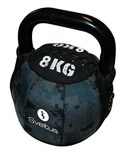 Sveltus Soft Kettlebell 8 Kg schwarz Krafttraining Muskeltraining Gewichte