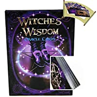 Oracle Card、Luckyx Witches Wisdom Oracle Cards Tarot、絶版レアコレクション、48枚の革新的な画期的なデッキ