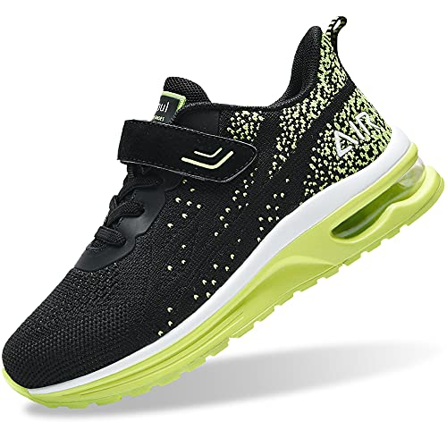 Air Shoes for Boys Girls Kids Toddler Tennis Sports Athletic Gym Running Sneakers (Green Size 8 Toddler)