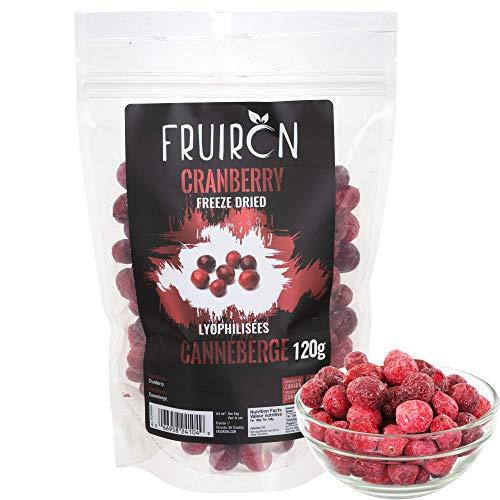 Fruiron Freeze Dried Whole Cranberries - 120 g (4.2 oz)   Pure Freeze...