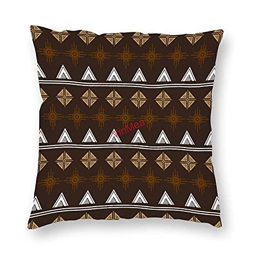 VinMea Funda de almohada decorativa con patrón bohemio para sofá, dormitorio, hogar, oficina, decoración de 50 x 50 cm