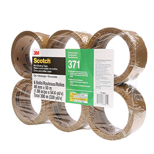 48 mm x 50 m Conveniently Packaged Scotch Box Sealing Tape 355 Clear High Performance Pack of 1