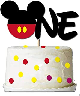 GmakCeder ONE Cake Topper for Mickey 1st First Birthday