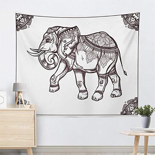 Tapiz Elefante Textiles para el hogar Mandala Algodón Toalla de playa Alfombra Decoración colgante de pared boho mandala decoracion pared 150x200cm/59*79inches