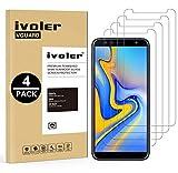 iVoler [4 Stücke] Panzerglas Schutzfolie für Samsung Galaxy J6 Plus 2018 / J4 Plus 2018 / A7 2018, 9H Härte, Anti- Kratzer, Bläschenfrei, [2.5D R&e Kante]