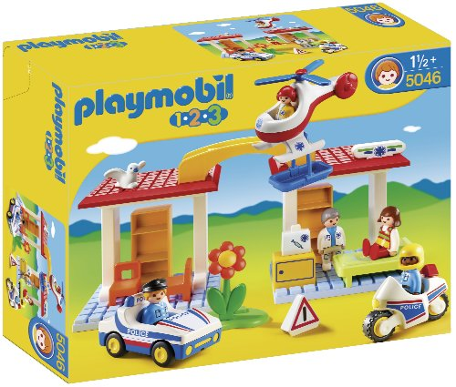 PLAYMOBIL 1.2.3. - Emergency Hospital with Security (5046)