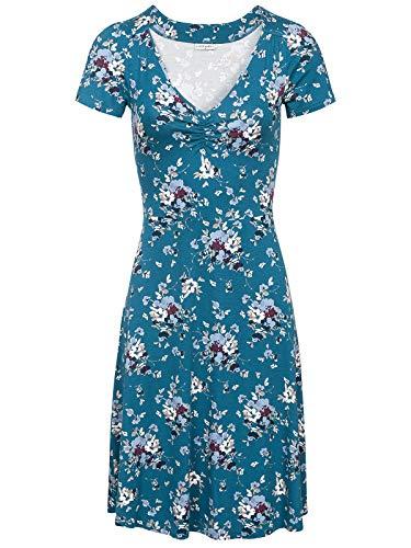 Vive Maria Mon Amour Dress Blue Allover, Größe:XXL