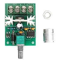 Gancon アルミ合金ノブDC6-12V 6AとPWM DCモータースピードコントローラーコントロールスイッチ