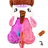 Cute Plush Cartoon Pet Costume Pajama Coat with Chew Toy and Dog House Charm - Choice of Character - Dog Sizes XS Thru XL (Pink Unicorn, S - Chest 12'-14', Back 9')