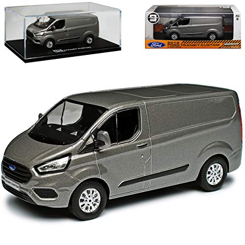 Greenlight Ford Transit Tourneo Custom Kasten Transporter Grau Silber Modell Ab 2012 Version Ab Facelift 2018 1/43...