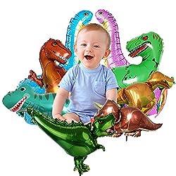3. Unihoh Aluminum Dinosaur Party Balloons (9 Pieces)