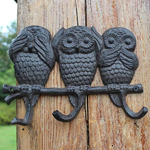 ZYF Vintage Cast europäische und amerikanische Eisenhaken Wandhaken Wanddekoration Haken Owl Haken Dekoration