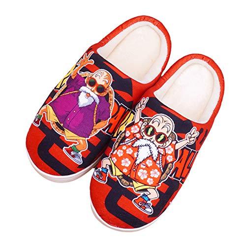Herren Pantoffeln Dragon Ball Plüsch Anime Kame Sennin Damen Hausschuhe Cartoon Weiche Kuschelige Home Indoor rutschfeste Drinnen Und Draußen Super Soft Unisex Slippers