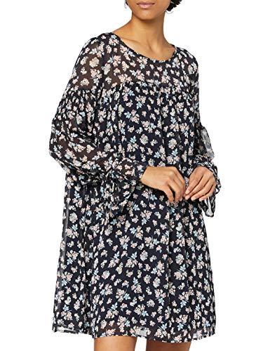 Mavi Damen Long Sleeve Kleid, Blau (Dress Blue Printed 25712), Large