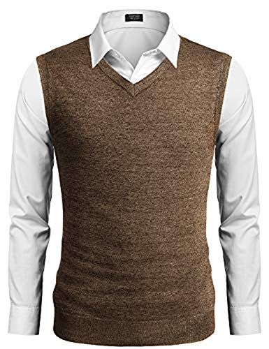 COOFANDY Mens Casual Sweater Ves...