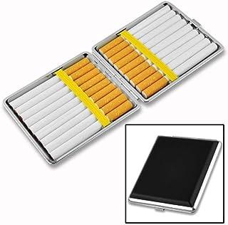 ZWFMX Stylish stainless steel cigar cigarette holder cigarette holder tobacco storage box gift Exquisite (Color : Ivory)