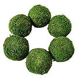 Harilla 6 Piezas simulación de Musgo Bola Decorativa Floral hogar Bodas Mesa de Pared Acuario exhibición Decoración Accesorios Ornamento - 15cm