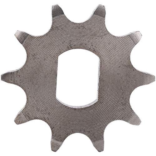 Pwshymi Piñón de Acero, piñón de 10 Dientes, 1,8 Pulgadas de diámetro, 0,5x0,7 Pulgadas de diámetro Interior, piñón de Triciclo eléctrico, Profesional para Scooter eléctrico
