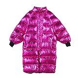 Zlbyb Chaqueta de invierno brillante Mujeres sueltas Streetwear chaqueta peluche mujer con capucha largas parkas (Color : A, Size : M code)