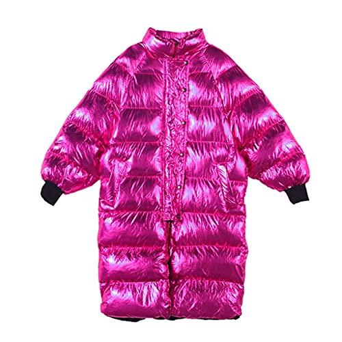 Zlbyb Chaqueta de invierno brillante Mujeres sueltas Streetwear chaqueta peluche mujer con capucha largas parkas (Color : A, Size : S code)