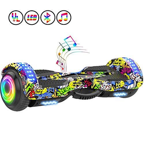 Framy 6,5-Zoll-Elektro-Scooter Hoverboard-Intelligente Elektrische Skateboard Selbst Gleichgewicht Scooter Bluetooth Lautsprecher LED Hoverboard,b