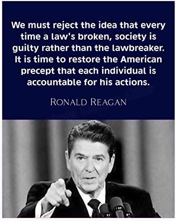 Individuals Are Accountable Ronald Reagan Quotes Wall Art 8 x 10 Inspirational Presidential product image